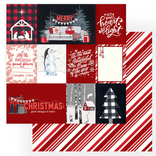 Photo Play Paper - Christmas Cheer Collection - 12 x 12 Double Sided Paper - Let Your Heart Be Light