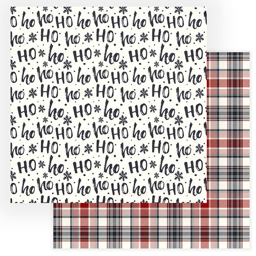 Photo Play Paper - Christmas Cheer Collection - 12 x 12 Double Sided Paper - Ho Ho Ho
