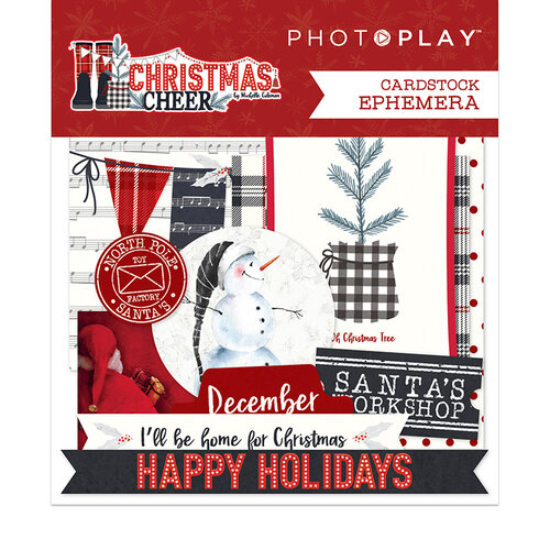 Photo Play Paper - Christmas Cheer Collection - Ephemera