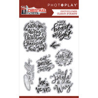 Photo Play Paper - Christmas Cheer Collection - Clear Photopolymer Stamps - Phrase