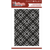 Photo Play Paper - Christmas Cheer Collection - Clear Photopolymer Stamps - Background