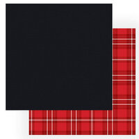 Photo Play Paper - Christmas Cheer Collection - 12 x 12 Double Sided Paper - Black