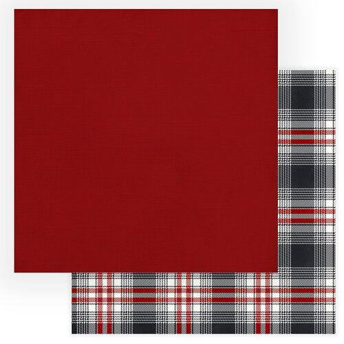 Photo Play Paper - Christmas Cheer Collection - 12 x 12 Double Sided Paper - Red