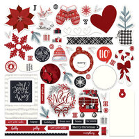 Photo Play Paper - Christmas Cheer Collection - Card Kit Stickers