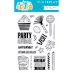 Photo Play Paper - Cake Collection - Clear Acrylic Stamps - Elements