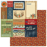 Photo Play Paper - Campfire Collection - 12 x 12 Double Sided Paper - Around the Campfire