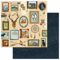 Photo Play Paper - Campfire Collection - 12 x 12 Double Sided Paper - Lodge Wall