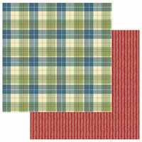 Photo Play Paper - Campfire Collection - 12 x 12 Double Sided Paper - Flannel Shirt