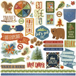 Photo Play Paper - Campfire Collection - 12 x 12 Cardstock Stickers - Elements