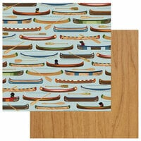 Photo Play Paper - Lakeside Collection - 12 x 12 Double Sided Paper - Row Your Boat
