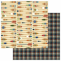 Photo Play Paper - Lakeside Collection - 12 x 12 Double Sided Paper - Paddle On