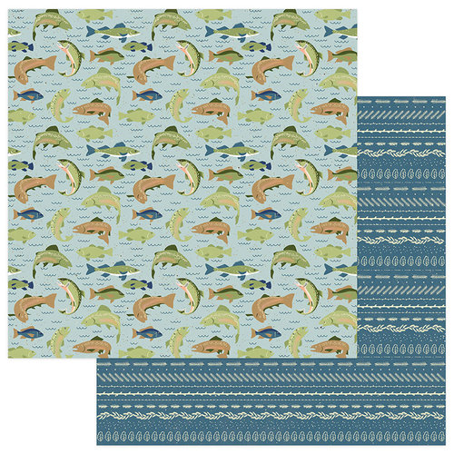 Photo Play Paper - Lakeside Collection - 12 x 12 Double Sided Paper - Catch of the Day
