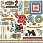 Photo Play Paper - Lakeside Collection - 12 x 12 Cardstock Stickers - Elements