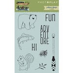 Photo Play Paper - Clear Acrylic Stamps - Lakeside and Campfire