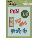 Photo Play Paper - Die Set - Words - Campfire and Lakeside