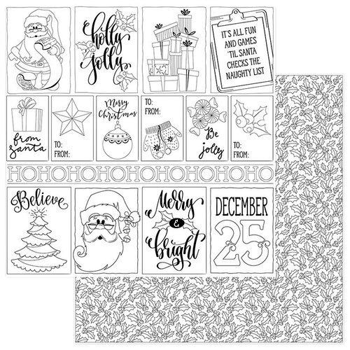 Photo Play Paper - Color Me Collection - 12 x 12 Double Sided Paper - Christmas