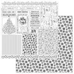 Photo Play Paper - Color Me Collection - 12 x 12 Double Sided Paper - Christmas Cards