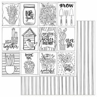 Photo Play Paper - Color Me Collection - 12 x 12 Double Sided Paper - Grow