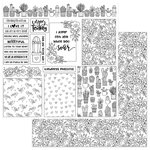 Photo Play Paper - Color Me Collection - 12 x 12 Double Sided Paper - Grow Cards