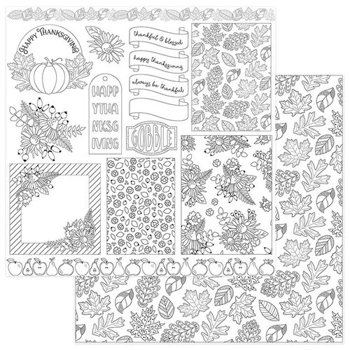 Photo Play Paper Color Me Autumn Cards