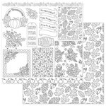 Photo Play Paper - Color Me Collection - 12 x 12 Double Sided Paper - Autumn Cards