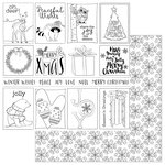 Photo Play Paper - Color Me Collection - 12 x 12 Double Sided Paper - Winter