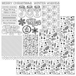 Photo Play Paper - Color Me Collection - 12 x 12 Double Sided Paper - Winter Cards
