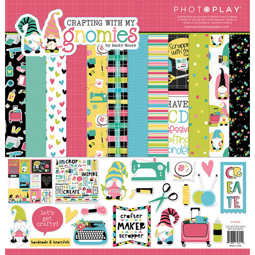 Photo Play Paper - Crafting With My Gnomies Collection - 12 x 12 Collection Pack