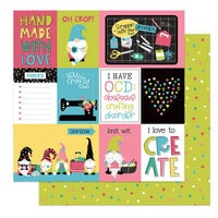 Photo Play Paper - Crafting With My Gnomies Collection - 12 x 12 Double Sided Paper - Oh Crop