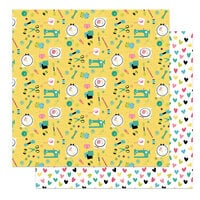Photo Play Paper - Crafting With My Gnomies Collection - 12 x 12 Double Sided Paper - Sew Sweet