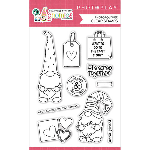 Photo Play Paper - Crafting With My Gnomies Collection - Clear Photopolymer Stamps
