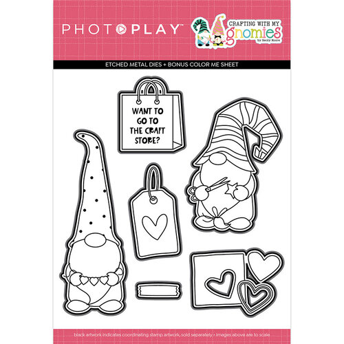 Photo Play Paper - Crafting With My Gnomies Collection - Etched Die Set