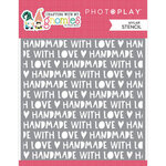 Photo Play Paper - Crafting With My Gnomies Collection - 6 x 6 Stencil - Handmade