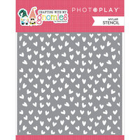 Photo Play Paper - Crafting With My Gnomies Collection - 6 x 6 Stencil - Hearts