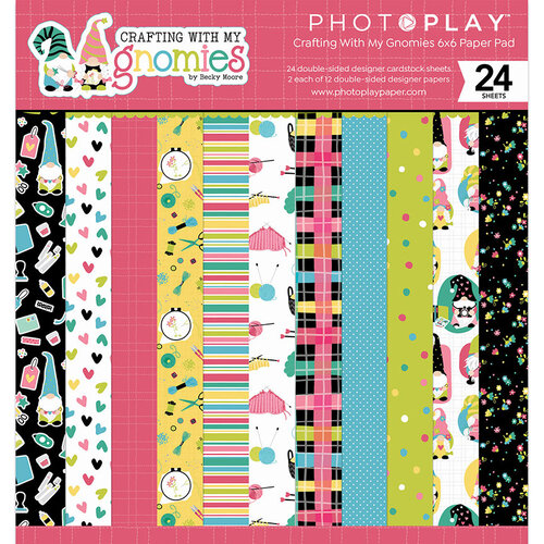 Photo Play Paper - Crafting With My Gnomies Collection - 6 x 6 Paper Pad