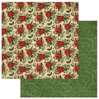 Photo Play Paper - Christmas Memories Collection - 12 x 12 Double Sided Paper - Poinsettia