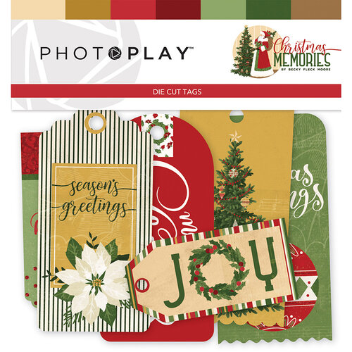 Christmas Memories.Photo Play Paper Christmas Memories Collection Tags