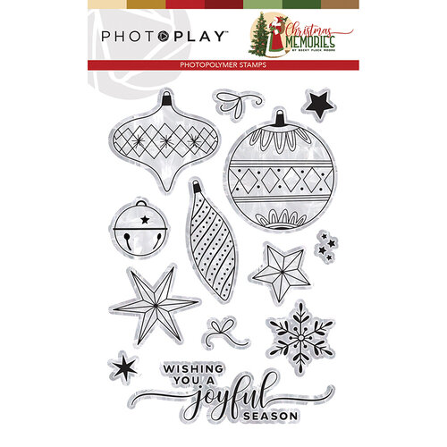Photo Play Paper - Christmas Memories Collection - Clear Photopolymer Stamps - Elements