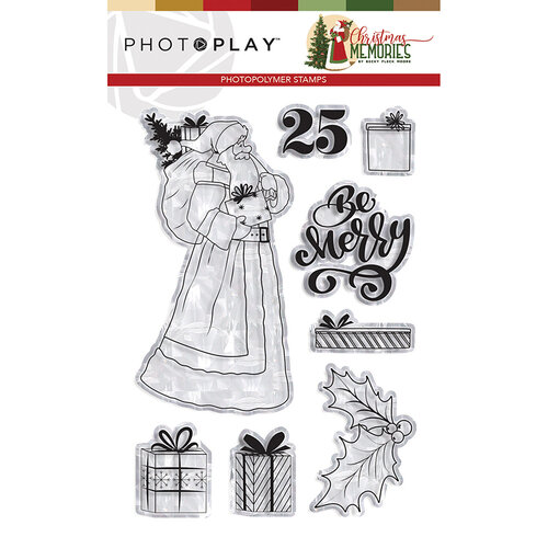 Photo Play Paper - Christmas Memories Collection - Clear Photopolymer Stamps - Santa