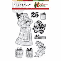 Photo Play Paper - Christmas Memories Collection - Clear Photopolymer Stamps -Santa