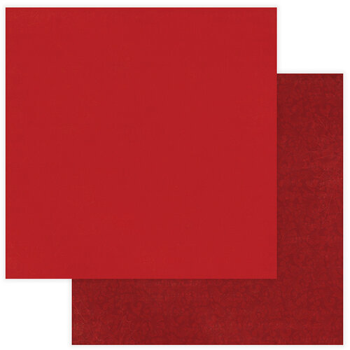 Photo Play Paper - Christmas Memories Collection - 12 x 12 Double Sided Paper - Solids Plus - Red