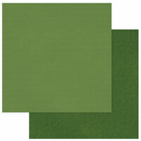Photo Play Paper - Christmas Memories Collection - 12 x 12 Double Sided Paper - Solids Plus - Green