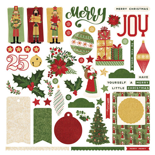 Photo Play Paper - Christmas Memories Collection - 12 x 12 Cardstock Stickers