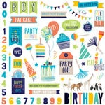 Photo Play Paper - Cake Collection - Party Animal - 12 x 12 Cardstock Stickers - Elements