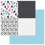 Photo Play Paper - Cake Collection - Panda Party - 12 x 12 Double Sided Paper - Surprise Quad