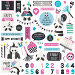Photo Play Paper - Cake Collection - Panda Party - 12 x 12 Cardstock Stickers - Elements