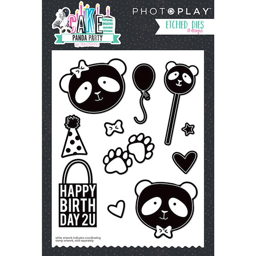 Photo Play Paper - Cake Collection - Designer Dies - Panda Party Dies