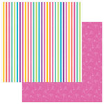 Photo Play Paper - Cake Collection - Rainbow Sprinkles - 12 x 12 Double Sided Paper - Make Some Noise