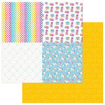 Photo Play Paper - Cake Collection - Rainbow Sprinkles - 12 x 12 Double Sided Paper - Celebrate Quad