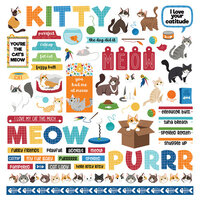 Photo Play Paper - Cat Lover Collection - 12 x 12 Cardstock Stickers - Elements